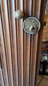 Alte Tür von Rundzylynder auf Profilzylinder umgebaut und dabei die Optik beibehalten