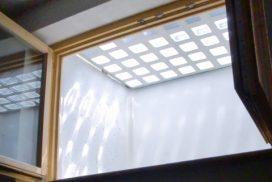 Lichtschacht-Abdeckung von unten